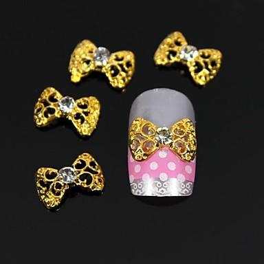 10 pcs Nail Jewelry / Diğer Süslemeler Mevye / Çiçek / Soyut Günlük Mevye / Çiçek / Soyut Sevimli / Karikatür / Punk / Metal