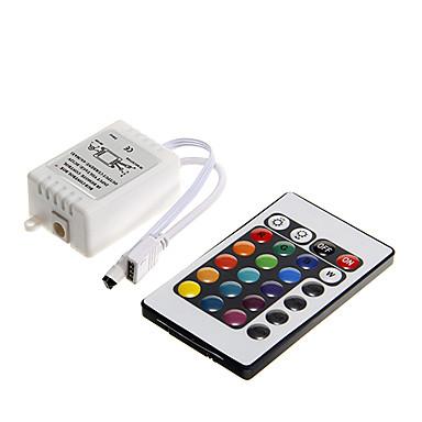 Zdm 1 adet dc 12 v 24 anahtar led şerit ir uzaktan kumanda ile denetleyici kutusu 3528 5050 smd rgb için led şerit işıklar