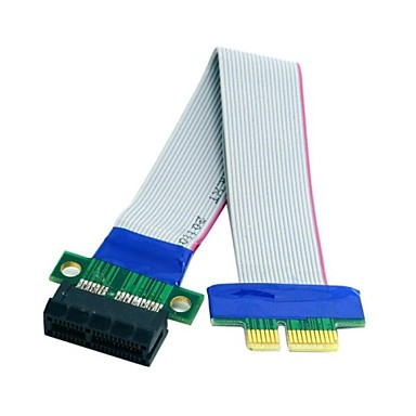 0.2m 0.6ft pci-e 1x slotu yükseltici kart genişletici uzatma şerit flex kablo ücretsiz kargo taşınmaya express