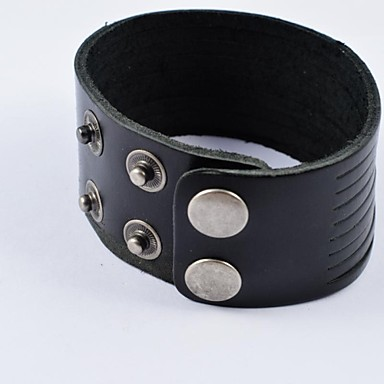 Herrn Lederarmbänder - Leder Modisch Armbänder Schwarz Für Alltag Normal Sport