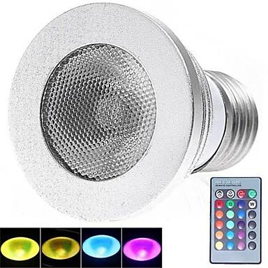 E26/E27 LED-spotlampen 1 Krachtige LED 180 lm RGB K Op afstand bedienbaar AC 85-265 V