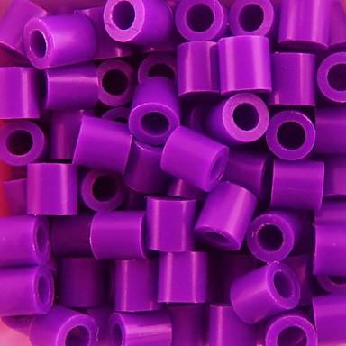 ca. 500 stuks / zak 5mm paars zekering kralen hama kralen diy puzzel eva materiaal safty voor kinderen ambachtelijke