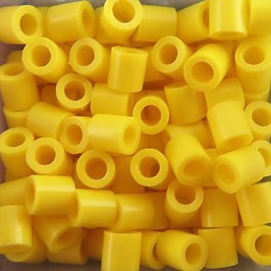 çocuklar zanaat için yaklaşık 500pcs / torba 5mm sarı sigorta boncuk hama boncuk diy yapboz eva malzeme emniyet