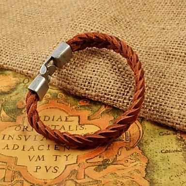 pulseiras de couro tecer da forma dos homens