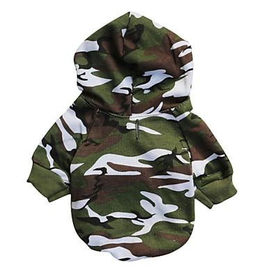 Chat Chien Pulls à capuche Vêtements pour Chien camouflage Couleur camouflage Coton Costume Pour les animaux domestiques Homme Mode