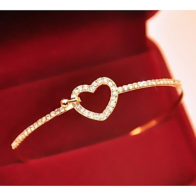Dames Armbanden met ketting en sluiting Strass Legering Liefde Sieraden Voor Bruiloft Feest Dagelijks Causaal Sport