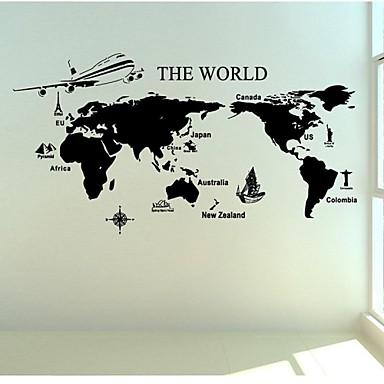 Stilleven Landschap Vormen Transport Muurstickers Vliegtuig Muurstickers Decoratieve Muurstickers Materiaal Wasbaar Huisdecoratie