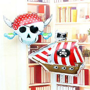 schedel piraat corsair aluminium membraan verjaardagsfeestje Allerheiligen hallowmas ballon set