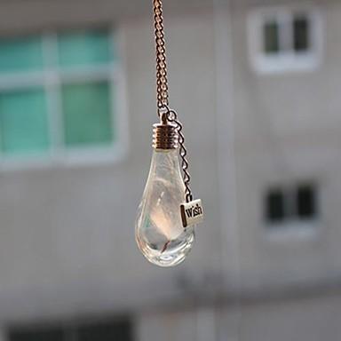 Dame Medalioane Coliere Hârtie Reciclabilă Aliaj Picătură La modă Transparent Bijuterii Petrecere Zilnic Casual 1 buc
