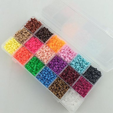 Yaklaşık 5400pcs 18 karışık renkli 5mm sigorta boncuk çocuklar için hama boncuk diy yapboz eva malzeme emniyet set (set b 18 * 300pcs)