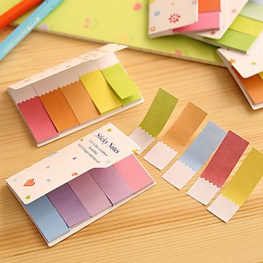 de culoare curcubeu gradient de laturi duble scrapbooking note auto-adezive