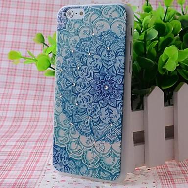 zircon belles fleurs motif effet bonne sensation de relief affaire pour l'iphone 6
