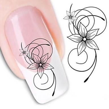 1 Water Transfer Sticker Nail Sticker Flower Nail Art DIY Tool Accessory Nail Decals Nail Art Design
