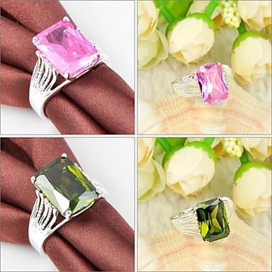 Pentru femei Inel de declarație Verde Roz Argilă Modă Nuntă Petrecere Zilnic Casual Sport Costum de bijuterii
