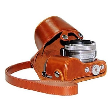 dengpin® δερμάτινη προστατευτική θήκη κάμερα τσάντα κάλυψη μοτίβο 7-χρώμα με ιμάντα ώμου για Sony NEX-5R NEX-5t 5R 5t