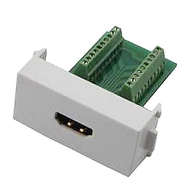 n86-600k kadın hdmi v1.4 adaptör ücretsiz kaynak modülü soket duvar paneli desteği 3d - yeşil + beyaz