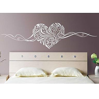 Soyut Natürmort Romantizm Moda Çiçekler Duvar Etiketler Uçak Duvar Çıkartmaları Dekoratif Duvar Çıkartmaları, Vinil Ev dekorasyonu Duvar