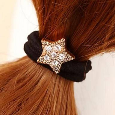 pentagon păr stras stea leagă bijuterii