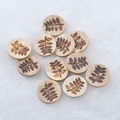 φύλλα λεύκωμα μοτίβο scraft ράψιμο κουμπιών κέλυφος diy καρύδας (10 τμχ)