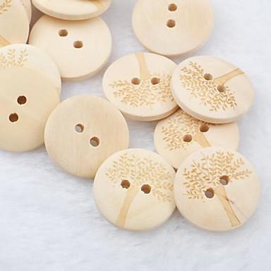 boompatroon scrapbook scraft naaien diy houten knopen (10 stuks)