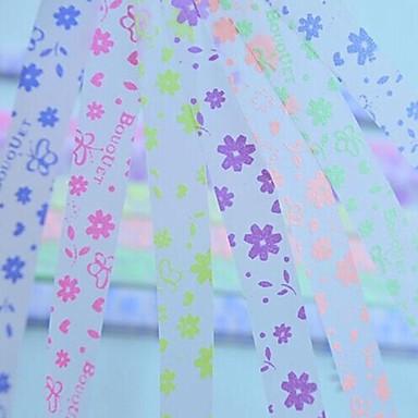 2x 30 τεμ φθορισμού αποτελε πεταλούδα και λουλούδια υλικό origami μοτίβο τυχερό αστέρι (τυχαία χρώμα)