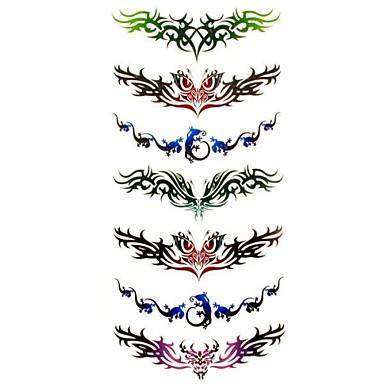 - Tattoo Aufkleber - Muster/Waterproof - Andere - für Damen/Girl/Erwachsener/Teen - Mehrfarbig - Papier - #(1) Stück - #(18.5*8.5)