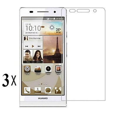 [3-pack] επαγγελματίας υψηλής διαφάνειας LCD κρύσταλλο διαφανές προστατευτικό οθόνης με πανάκι καθαρισμού για το Huawei P6
