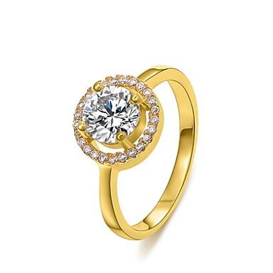 Γυναικεία Δακτύλιος Δήλωσης Ασημί Χρυσαφί Κρύσταλλο Επιχρυσωμένο Γάμου Πάρτι Αρραβώνας Καθημερινά Causal Κοστούμια Κοσμήματα