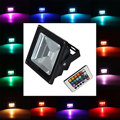 tanie Oświetlenie zewnętrzne-1 szt. 10 W 900 lm 1 Koraliki LED LED wysokiej mocy Zdalnie sterowana RGB 85-265 V