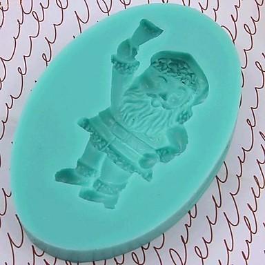 Natal Papai Noel ferramentas fondant bolo de chocolate bolo de silicone molde de decoração, l8.5 * w6 * h1.3cm