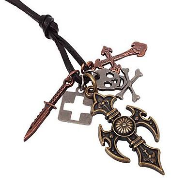 ocultar pandent cruz colares bonitos do vintage dos homens de corda (1pc)