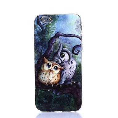 Pour Coque iPhone 6 Coques iPhone 6 Plus Etuis coque Motif Coque Arrière Coque Chouette Flexible Silicone pouriPhone 6s Plus iPhone 6