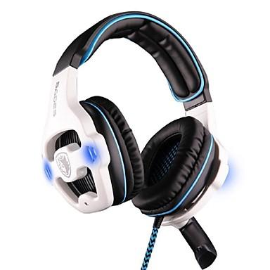SADES SA-903 Peste ureche Cordeluțe Cablu Căști Plastic Jocuri Cască Cu controlul volumului Cu Microfon -Izolarea zgomotului Setul cu