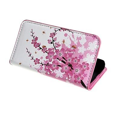 Για Samsung Galaxy Θήκη Πορτοφόλι / Θήκη καρτών / με βάση στήριξης / Ανοιγόμενη / Με σχέδια tok Πλήρης κάλυψη tok Λουλούδι Συνθετικό δέρμα