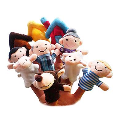 Schaf Fingerpuppen Marionetten Niedlich lieblich Neuartige Zeichentrick Textil Plüsch Mädchen Geschenk 10pcs