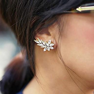 Σκουλαρίκια με Κλιπ Κρύσταλλο Κράμα Leaf Shape Κοσμήματα Πάρτι Causal