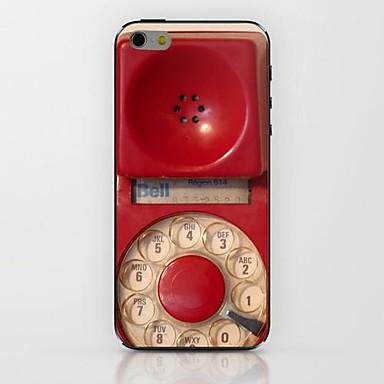 telefon roșu model tub caz greu pentru iPhone 6
