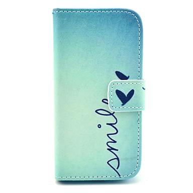 Coco fun® bonito padrão de coração estojo de couro pu com protetor de tela e caneta para samsung galaxy s4 mini-i9190