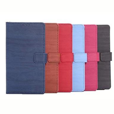 Capinha Para Samsung Galaxy Samsung Galaxy Note Porta-Cartão Carteira Com Suporte Flip Capa Proteção Completa Côr Sólida PU Leather para