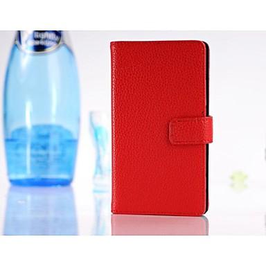 Pentru Carcasă Nokia Portofel / Titluar Card / Cu Stand Maska Corp Plin Maska Culoare solida Greu PU piele Nokia Nokia Lumia 925