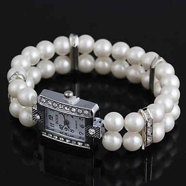 pentru Doamne Ceas La Modă Simulat Diamant Ceas Ceas Brățară Quartz imitație de diamant Resin Bandă Perle Alb Alb