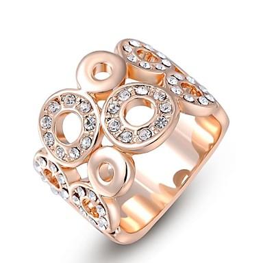 Anéis Casamento / Pesta / Diário / Casual Jóias Cristal / Chapeado Dourado Feminino Anéis Statement6 / 7 / 8 Dourado / Prateado