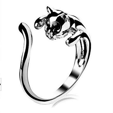 Yüzükler Düğün / Parti / Günlük / Spor Mücevher alaşım Kadın İfadeli Yüzükler8 Gümüş