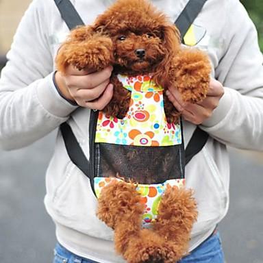 Gato Cachorro frente Backpack Animais de Estimação Cestos Portátil Verde Para animais de estimação