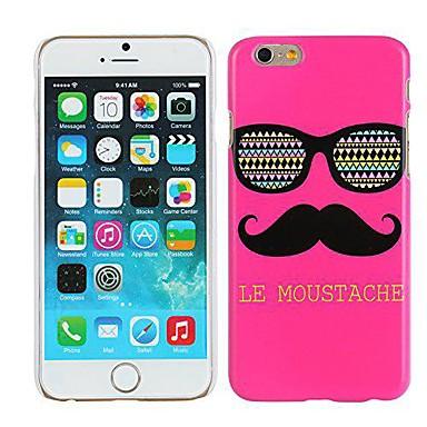 rose le snor& bril hard plastic geval voor iphone 6 plus