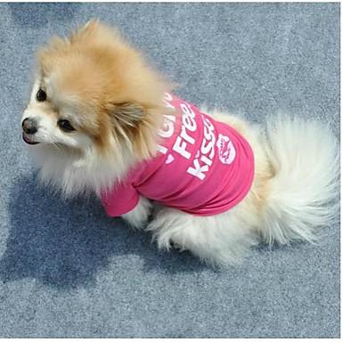 Katze Hund T-shirt Hundekleidung Buchstabe & Nummer Rose Baumwolle Kostüm Für Haustiere Damen Niedlich Lässig/Alltäglich