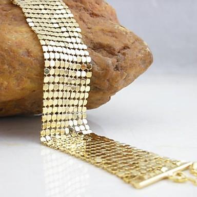 Placat cu aur 18k 26cm brățară largă
