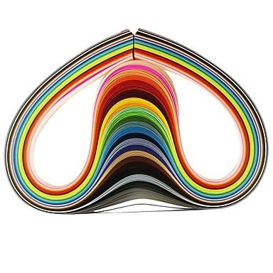 120pçs 3mmx53cm papel (X5 pçs 24 cor / cor) ofício diy arte decoração