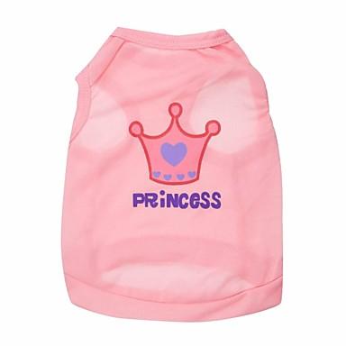 Katze Hund T-shirt Hundekleidung Tiaras & Kronen Rose Rosa Terylen Kostüm Für Haustiere
