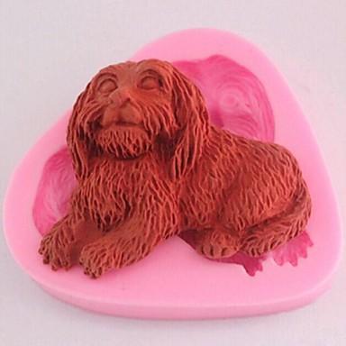 cão ferramentas fondant bolo de chocolate bolo de silicone molde de decoração, l6.8cm * w6cm * h1.4cm
